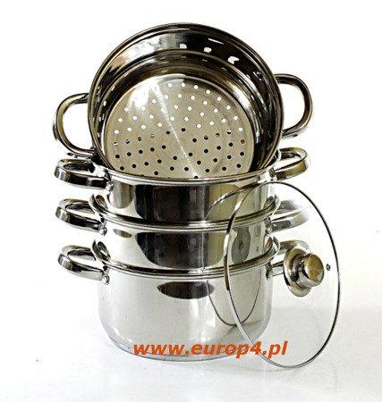 Garnek Saubach SB 2551 18 cm garnki do gotowania na parze