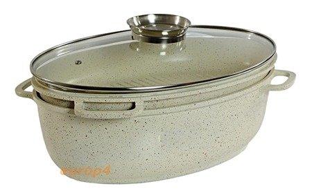 Brytfanna Frico FR 1240 KREMOWA 8 litrów indukcja pokrywka