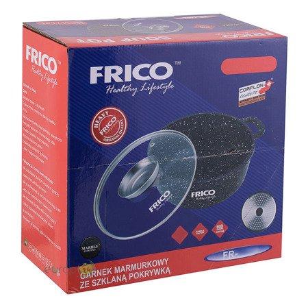 Brytfanna Frico FR 4406 zestaw Gęsiarka 4.5 L Garnek indukcja pokrywka