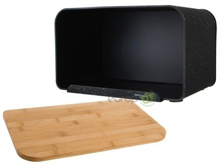 Chlebak pojemnik pieczywo z deską stal czarny 1245
