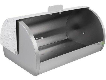 Chlebak stalowy Klausberg KB 7401 metalowy pojemnik na pieczywo Biały
