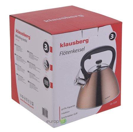 Czajnik Klausberg KB 7209 Stalowy z gwizdkiem