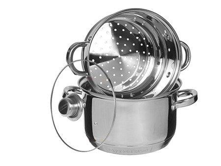Garnek Edenberg EB 8910 20 cm garnki do gotowania na parze