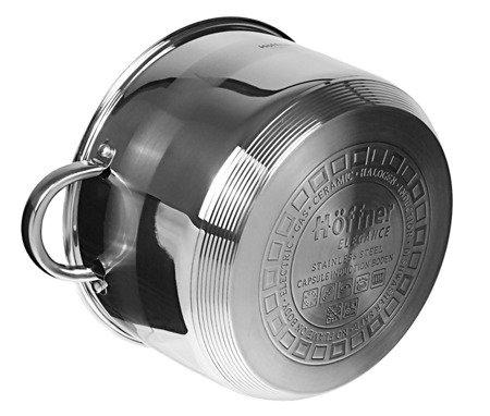 Garnek Hoffner HF 4494 12 L stalowy