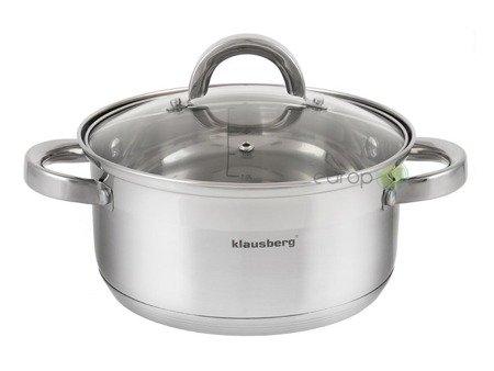 Garnek Klausberg KB 7137 18 cm garnki do gotowania na parze 2.5 L