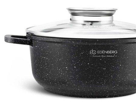 Garnek Marmurowy Edenberg EB 8116 pojemność 2.3L z pokrywką