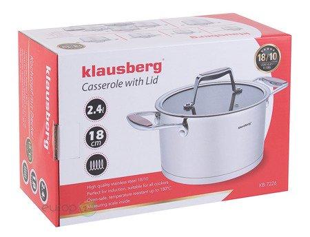 Garnek Stalowy Klausberg KB 7226 pojemność 2.4 L