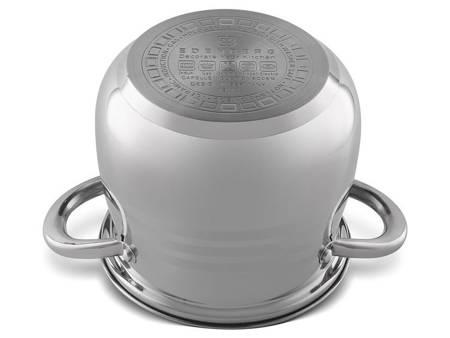 Garnek stalowy Edenberg EB 533 z pokrywką pojemność 5.5 L