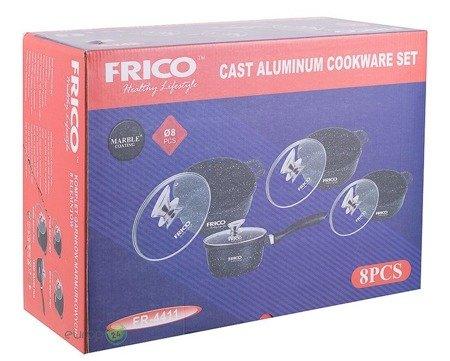 Garnki Frico FR 4411 zestaw garnków Marmurowych Indukcja