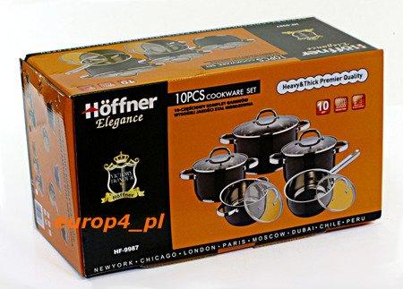 Garnki Hoffner HF 9986 zestaw garnków stalowych