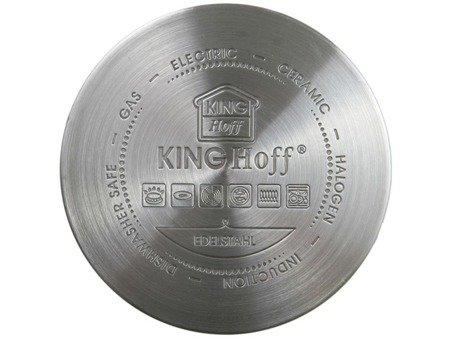 Garnki KingHoff KH 1200 indukcyjne zestaw 8 elem stalowych garnków