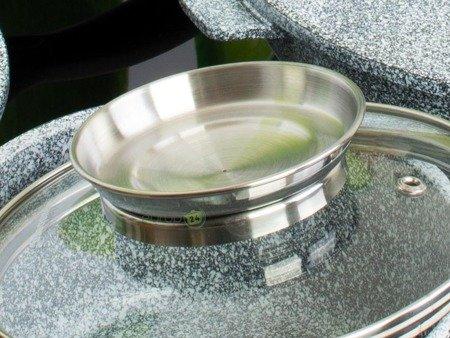 Garnki Klausberg KB 7325 Zestaw garnków granitowych indukcyjnych