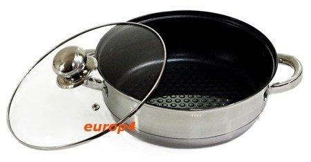 Garnki Stalowe Edenberg EB 4010 Komplet garnków indukcyjnych