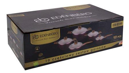 Garnki marmurowe Edenberg EB 9188 Zestaw garnków indukcyjnych