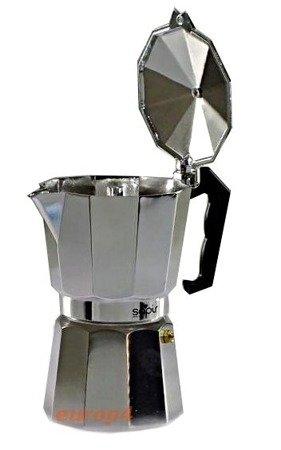 Kawiarka 450 ml ELM 503 kafetiera 9 ZAPARZACZ do kawy srebrna