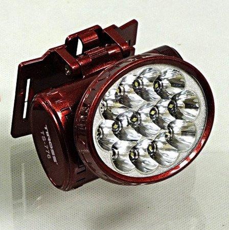 Latarka RB 2103 TS 776 - 13 LED czołowa Dioda akumulatorowa na głowę czerwona
