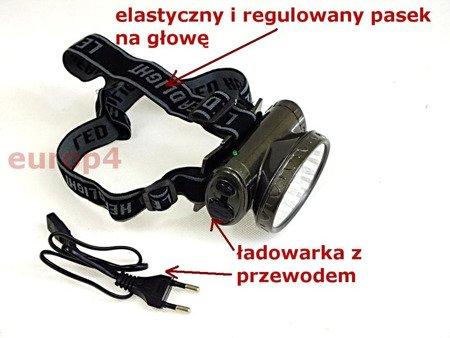 Latarka Zikon ZK 1522 13 LED czołowa akumulatorowa na głowę czerwona
