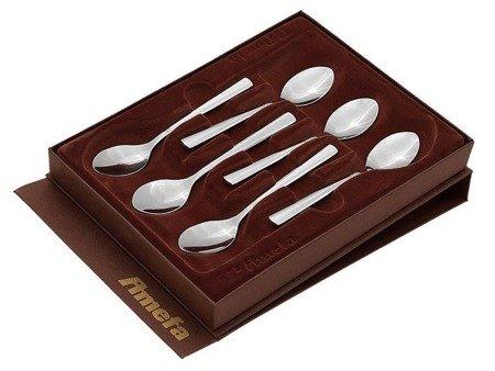 Łyżeczki Amefa Palmon 8410 sztućce do herbaty kawy komplet 6 szt w pudełku