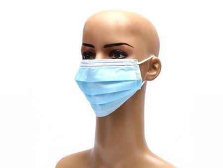 Maseczki ochronne jednorazowe 3-warstwowe higieniczne antywirusowe 10 szt