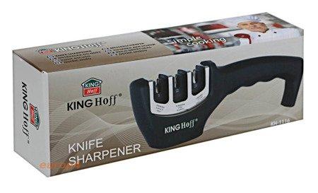Ostrzałka KingHoff KH 1116 do noży noża potrójna zestaw Osełka