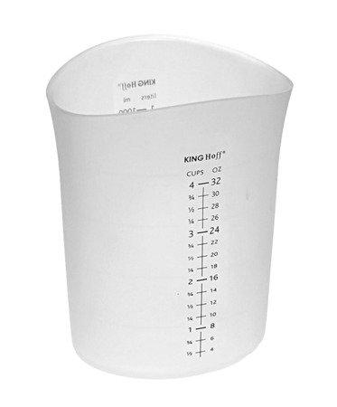 Pojemnik Kinghoff KH 4664 1000 ml silikonowy kubek miarka mąka cukru KH 4664
