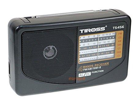Radio 230V przenośne mini na baterie zasilane 456