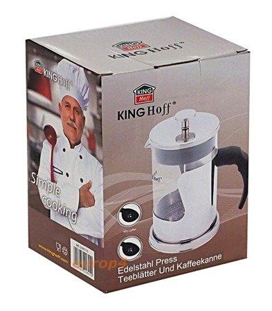 Szklany zaparzacz KingHoff KH 4840 do herbaty 600 ml ziół kawy dzbanek