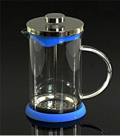 Szklany zaparzacz Peterhof PH 12525 do herbaty 600 ml ziół kawy dzbanek niebieski