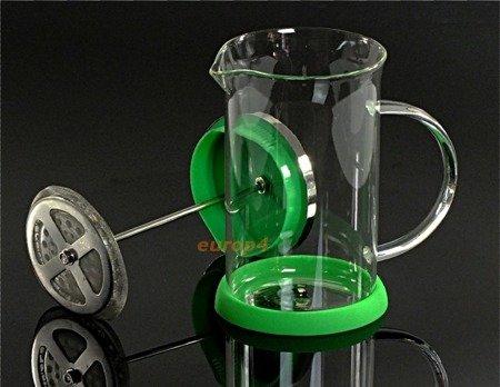 Szklany zaparzacz Peterhof PH 12525 do herbaty 600 ml ziół kawy dzbanek zielony