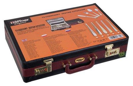 Sztućce Hoffner ELEGANCE HF 2660 G sztućce zestaw widelece+łyżki+walizka Wybór