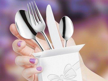 Sztućce obiadowe Amefa Jewel 8010 24 elementy dla 6 osób 18/10