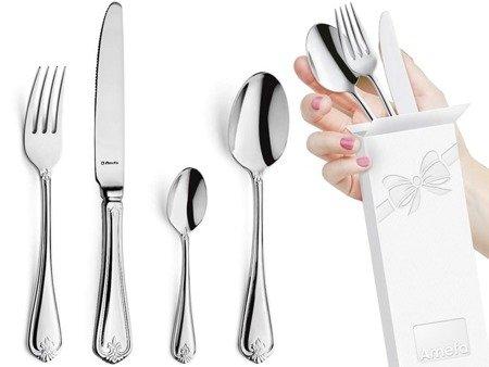 Sztućce obiadowe masywne Amefa Duke 5280 24 elem / 6 osób stal 18/10