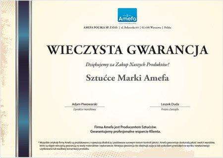 Sztućce obiadowe masywne Amefa Duke 5280 5 elem / 1 osoba stal 18/10