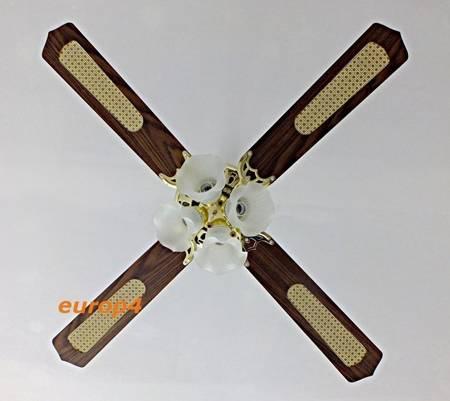 Wentylator sufitowy żyrandol MX 416 4x lampa