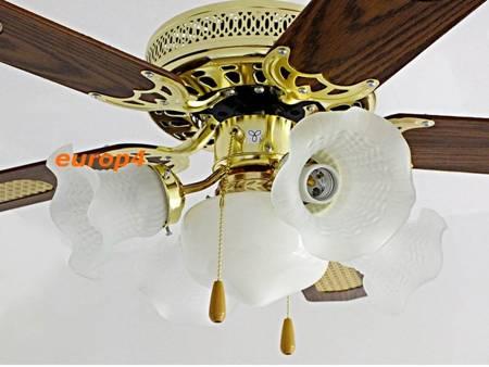 Wentylator sufitowy żyrandol MX 417 5x lampa