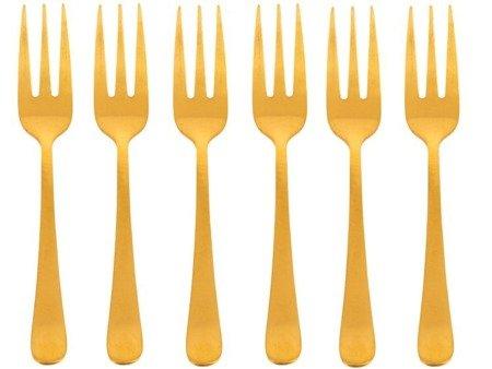 Widelczyki deserowe Holenderskie 1410 Amefa 6 sztuk dla 6 osób Trend złoto