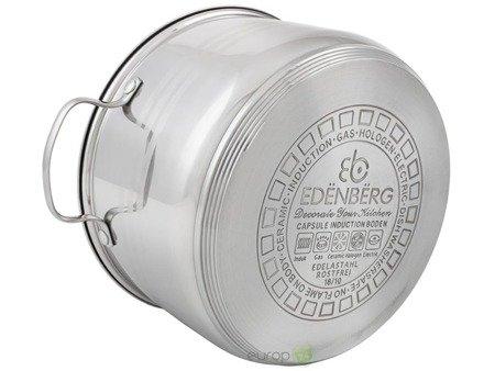 Zestaw garnków Edenberg EB 4073 Garnki stalowe indukcyjne